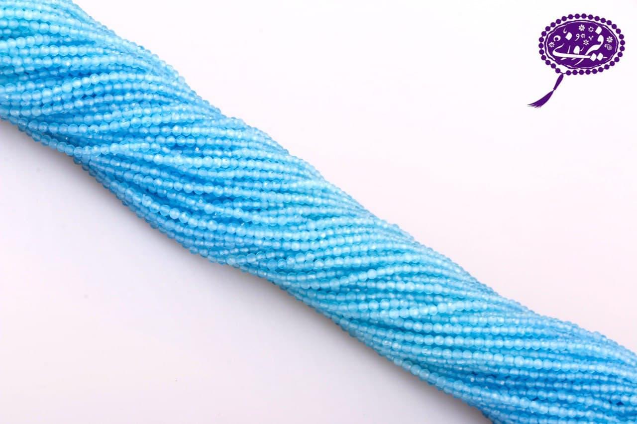 رشته جید تراش جواهری آبی