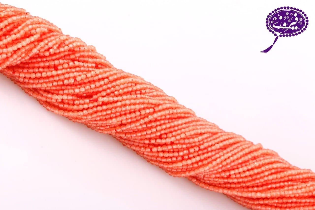 رشته جید تراش جواهری  نارنجی