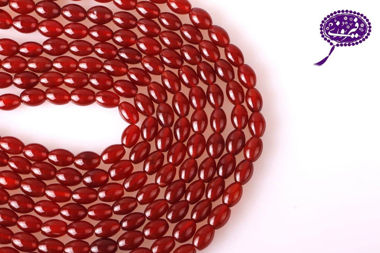 رشته عقیق هلی قرمز درجه یک