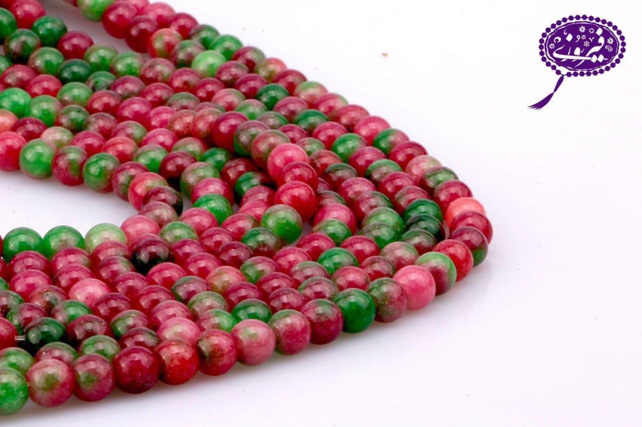 رشته جید لکه دار سبز و قرمز