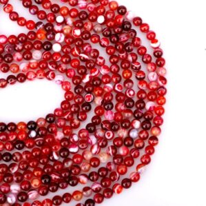 رشته عقیق ماداگاسکار قرمز