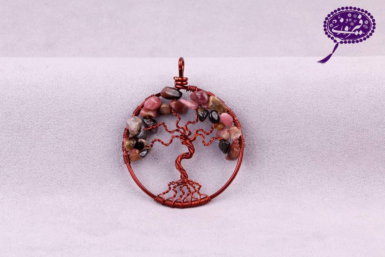 مدال درخت زندگی تورمالین