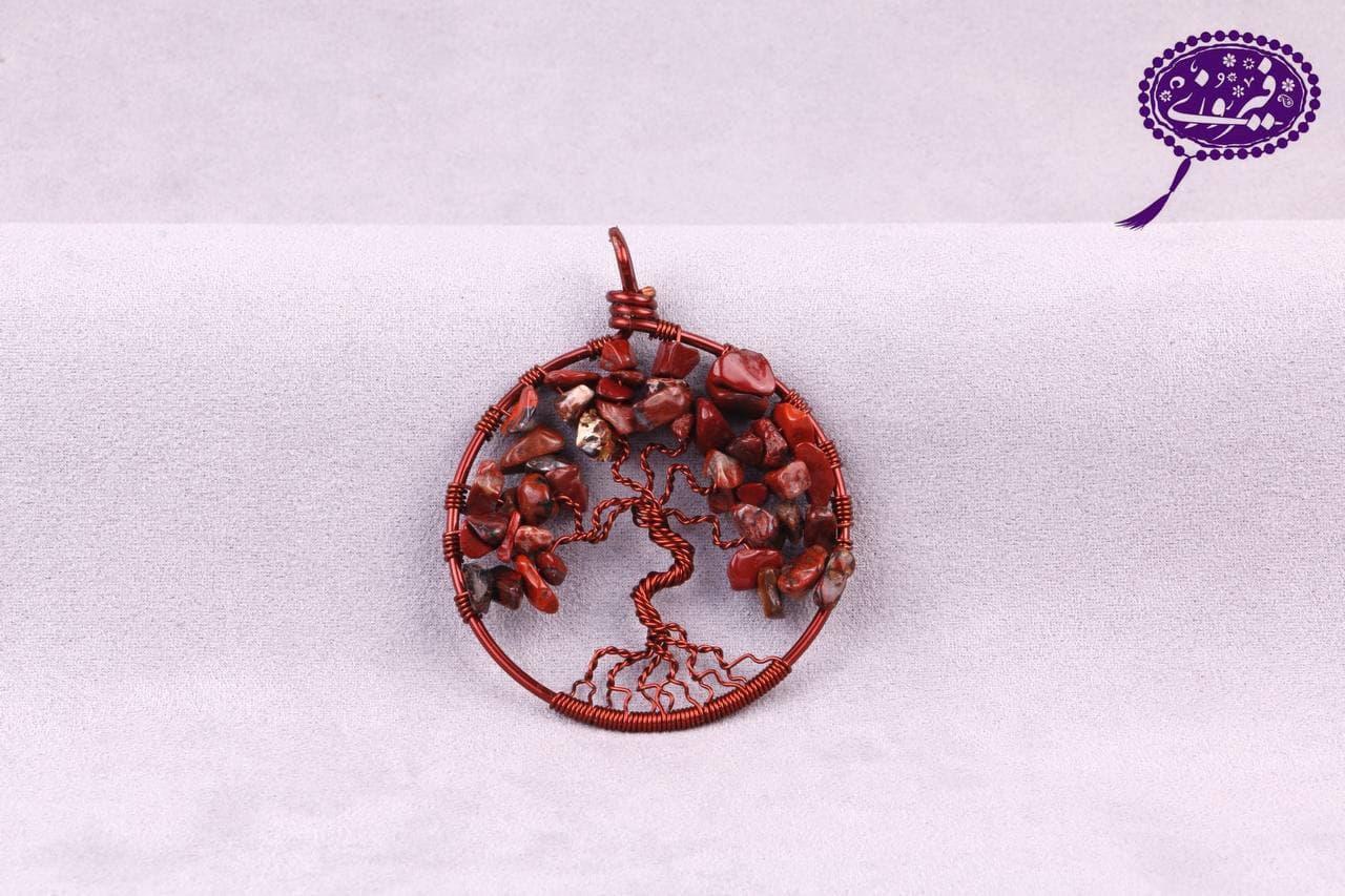 مدال درخت زندگی جاسپر سرخ