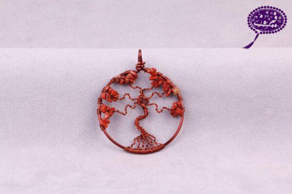 مدال درخت زندگی جاسپر نارنجی