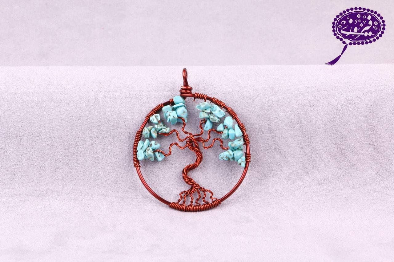 مدال درخت زندگی طرح فیروزه